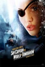 SKY CAPTAIN WORLD TOMORROW MOVIE POSTER ~ ANGELINA JOLIE ORIGINAL 27x40 Advance