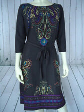 MLLE GABRIELLE Dress S M NEW w/Tag Poly Spandex Taupe Brown Art Deco Tattoo CHIC