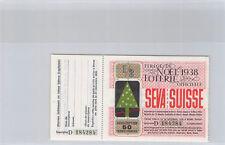 Suisse Loterie de Noël 50 Francs Français 1938 n° 184284