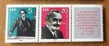 EBS East Germany DDR 1962 Georgi Dimitrov se-tenant Zusammendruck Mi.WZd33 MNH**