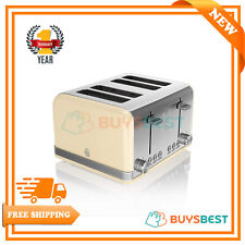 Swan Retro 4-Slice Toaster 1600 W In Cream