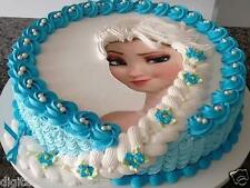 Cake topper edible  image icing Frozen Elsa REAL FONDANT