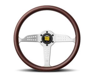 MOMO Grand Prix Heritage Steering Wheel  Mahogany Wood 350mm Authentic