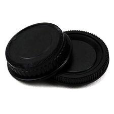 2pcs/set Plastic Rear Lens and Body Cap Cover for Pentax K PK Camera Black Set