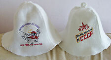 Russian steam sauna hats Better beer belly then hump from labor + born in USSR