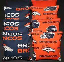 Denver Broncos Cornhole Bean Bags 8 ACA Regulation Corn Hole Bags Tailgate Toss