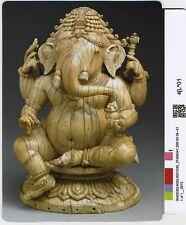 4x5.5 inch fridge magnet_  carved ivory Ganesha, 14th century Odisha