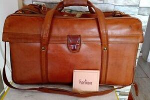 Hartmann Belting Leather Shoulder Large Duffel Travel Bag/ Briefcase Pre-owned