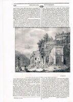 1845 ABRUZZO - MONTE MAJELLA - BADIA DI S. SPIRITO XILOGRAFIA POLIORAMA