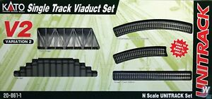 Kato 20861-1 Single Track Viaduct Set Variation 2 N Scale