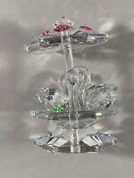 """Vintage Crystal Miniature Swan Carousel Figurine 2"""""""