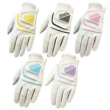 5 pack Women Ladies Golf gloves all weather cabretta leather palm patch & Thumb