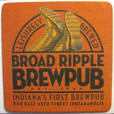 BROAD RIPPLE BREWPUB Beer COASTER, Mat with BOOTS, Indianapolis, INDIANA 2013