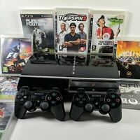 PS3 80gb Console Bundle With 8 Sports + Racing Games + 2 Controllers