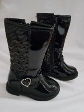 baby girls quilted size 5 black boots shoes