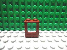 Lego 1 Dark Red 1x2x2 window frame with Trans Light Blue lens train