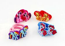 8Pcs My little Pony Girls Hair Accessories Rope Band Elastic Bobble Tied Ring