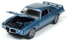 Auto World 1:64 1969 Pontiac Firebird T/A Blue Poly Die-Cast Car AW64052