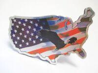 Amerika Magnet Laser Metall Adler Landkarte 10cm Souvenir USA