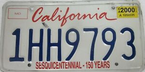 CALIFORNIA SESQUI CENTENNIAL licence/number plate US/United States/USA/American