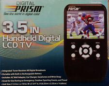 New Digital Prism 3.5 In Handheld Portable Digital LCD TV rechargeable  ATSC-301