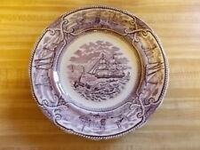 "Mason's Ironstone Purple American Marine 10""  plate made in England"