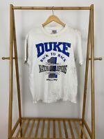 VTG Oneita 90s Duke University Back To Back National Champions T-Shirt Size L