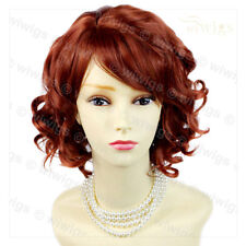 Wiwigs Lovely Copper Red Short Curly Summer Style Skin Top Ladies Wig