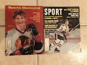 1970 Sports Illustrated Lot of 2 CHICAGO BLACKHAWKS 68 Bobby HULL Keith MAGNUSON