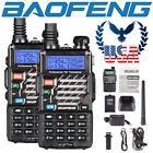 US 2x Baofeng UV-5R+ Dual-Band 2m/70cm VHF UHF FM Transceiver Ham Two-way Radio