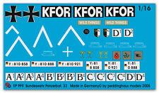 1/16 Decals für einen Leopard A6 KFOR 999