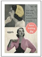1950s Bolero and Hat - Vintage Knitting Pattern Copy