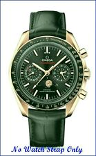 21MM BLACK LEATHER STRAP & CLASP for 44.25mm OMEGA SPEEDMASTER MOONWATCH Pro