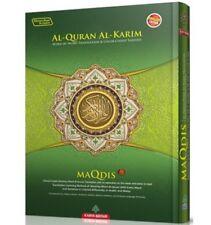 Quran Al Kareem Word for Word Transl C.Coded Tajweed Ara-Eng (LARGE- MAQDIS)