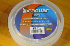 Seaguar Fluorocarbon fishing leader 25 pound 25 yard blue label
