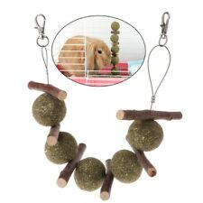 Hamster Rabbit Pet Teeth Grinding Toys Apple Tree Branch Grass Ball Hanging Cage