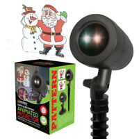 Animated LED Projector Santa with Snowman Christmas Light Set Xmas Decoration