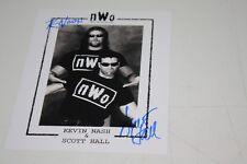 NWO WCW OUTSIDERS KEVIN NASH & SCOTT HALL DUAL SIGNED 8X10 PHOTO PHOTO WWE