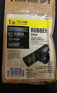 """Wholesale Lot 10 pcs. 1"""" Everbilt Rubber Goma pipe insulation Tee Connector  NEW"""