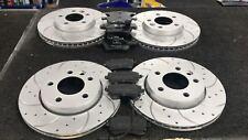 VW TRANSPORTER T5 T30 T28 PERFORMANCE DRILLED GROOVED BRAKE DISC PADS FRONT REAR