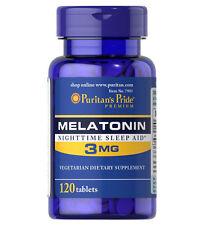 Puritan's Pride Melatonin 3mg Night Time Sleep Aid 120 Tablets