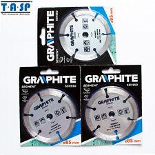 3PC Diamond Circular Saw Blade Disc for Granite Cutting Power Tool 85x1.8x10mm