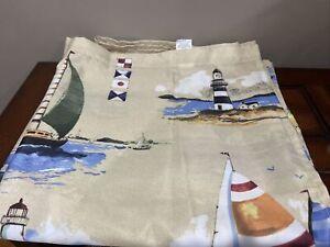 """Sail Boats Saturday Knight LTD Regatta Fabric Shower Curtain 70"""" x 72"""" Coastal"""