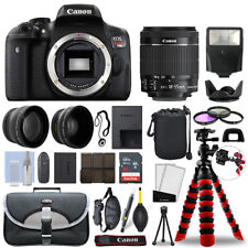 Canon Rebel T6i DSLR Camera with 18-55mm STM+ 16GB 3 Lens Ultimate Accessory Kit