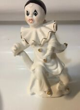"Vintage Clown Figurine made in Japan ""BEAUTIFUL"" White And Black"
