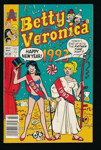 BETTY AND VERONICA #61 ARCHIE COMICS 1993 BIKINI COVER NEWSSTAND EDITION