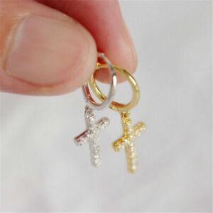 Fashion Cross Earrings S925 Diamond Stacked Earrings Silver Earrings For Wedding
