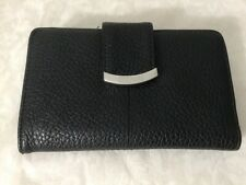 Kenneth Cole Reaction  Womans Bifold Wallet Black Faux Pebbled Leather