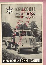 KASSEL, Werbung 1952, Henschel & Sohn Diesel-Motor Lkw Kipper