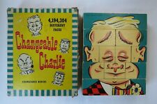 "Vtge 1948 ""Changeable Charlie""Wood Puzzle Blocks-4,194,304 Combinations-Complete"